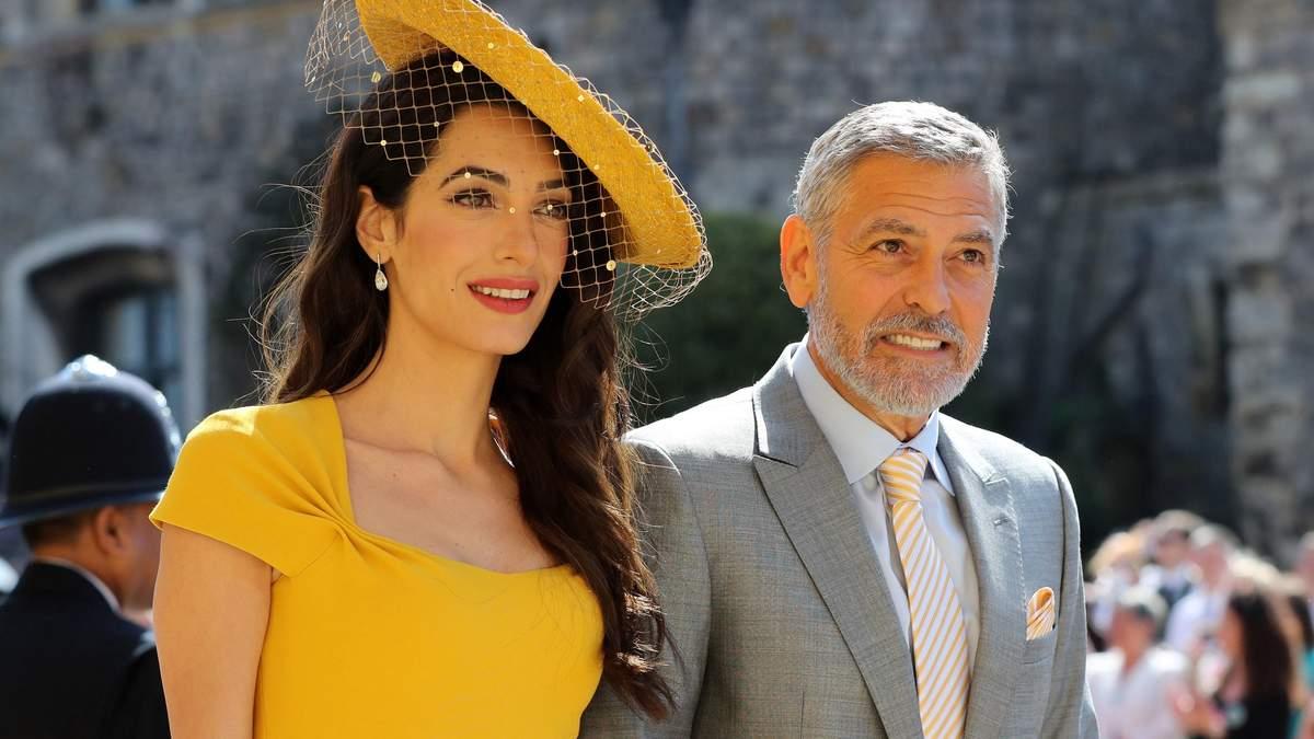 Джордж та Амаль Клуні на весіллі принца Гаррі і Меган Маркл