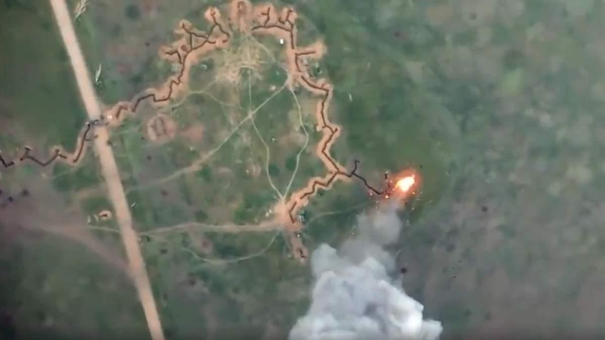 Украинские военные уничтожили вражескую БМП на Донбассе: яркое видео