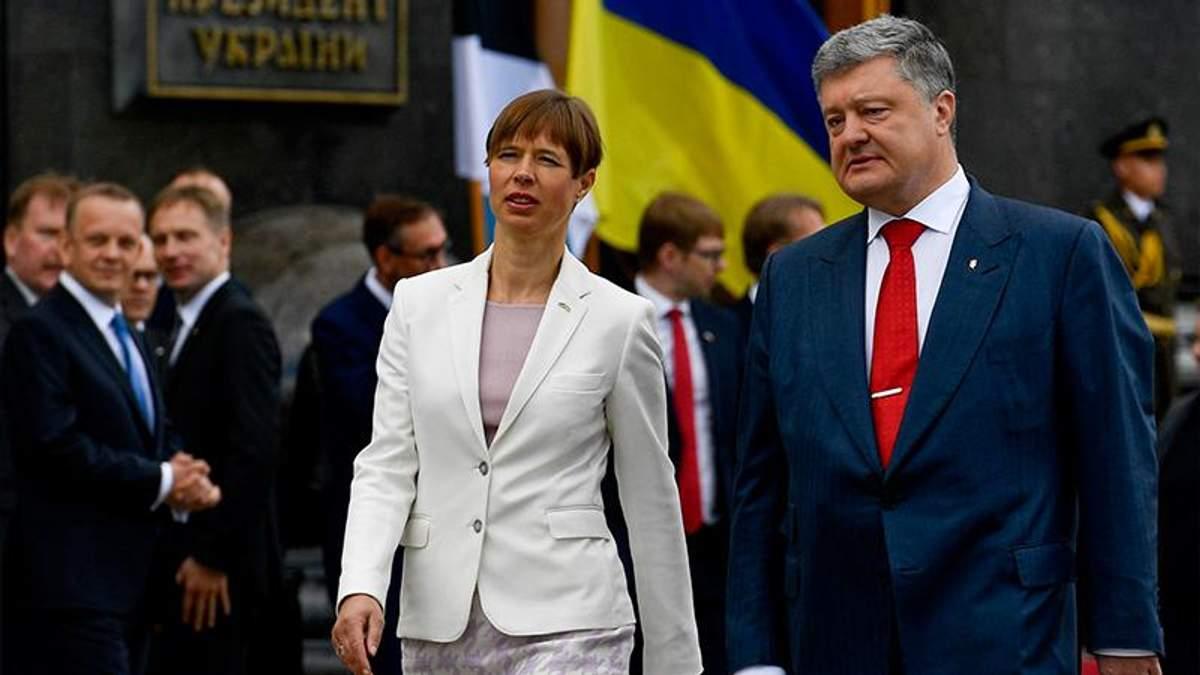 Президент Естонії відвідає звільнену частину Донбасу