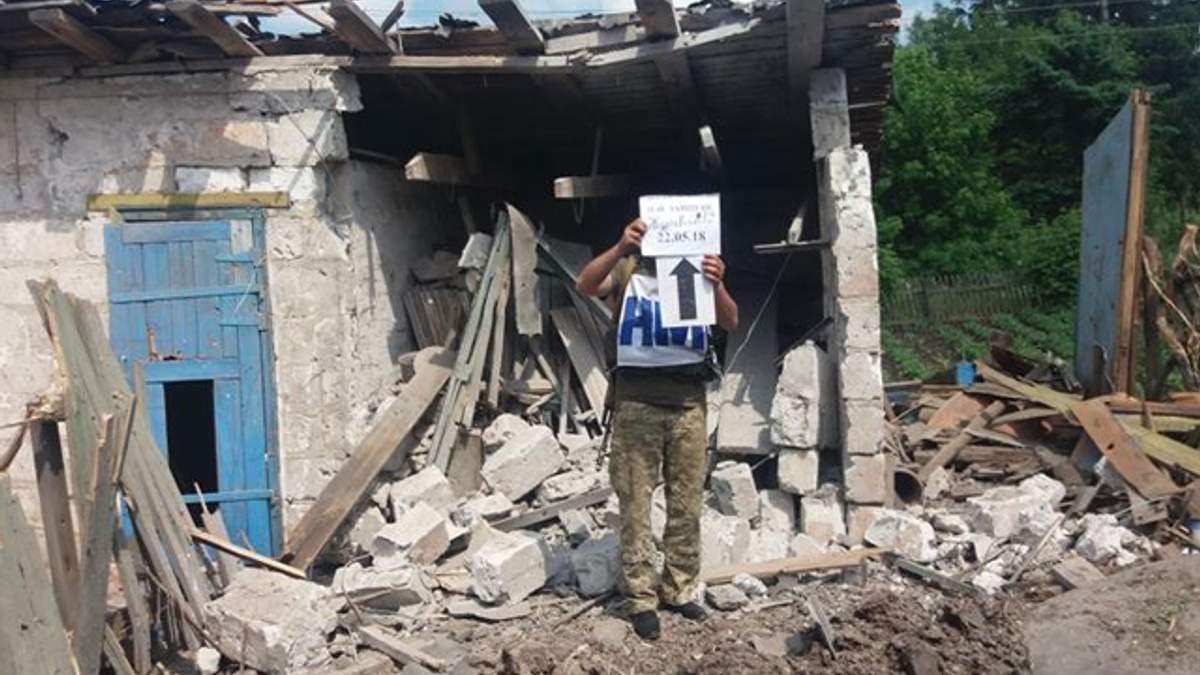 Фото разрушений обстрелянного Зайцевого