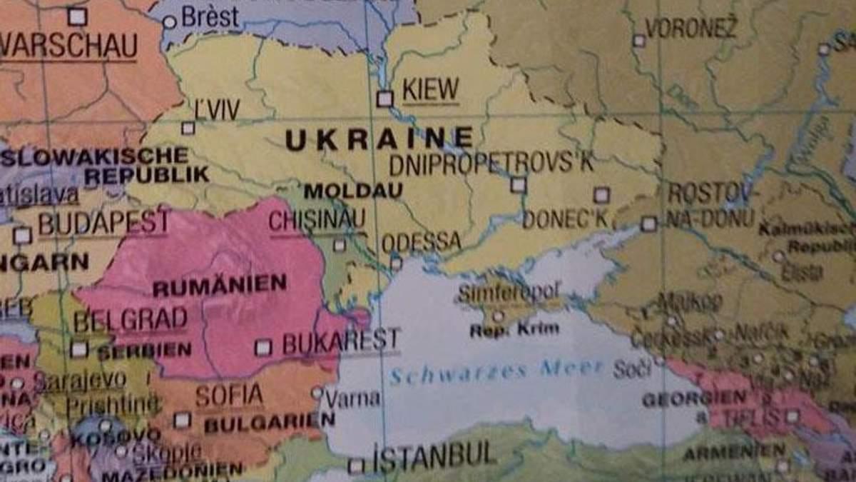 """В Германии продают карту с """"российским"""" Крымом"""