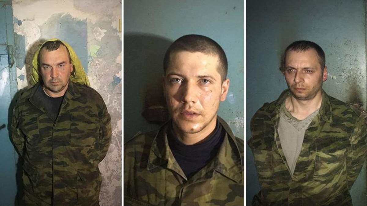 Захоплені у полон бойовики на Донбасі