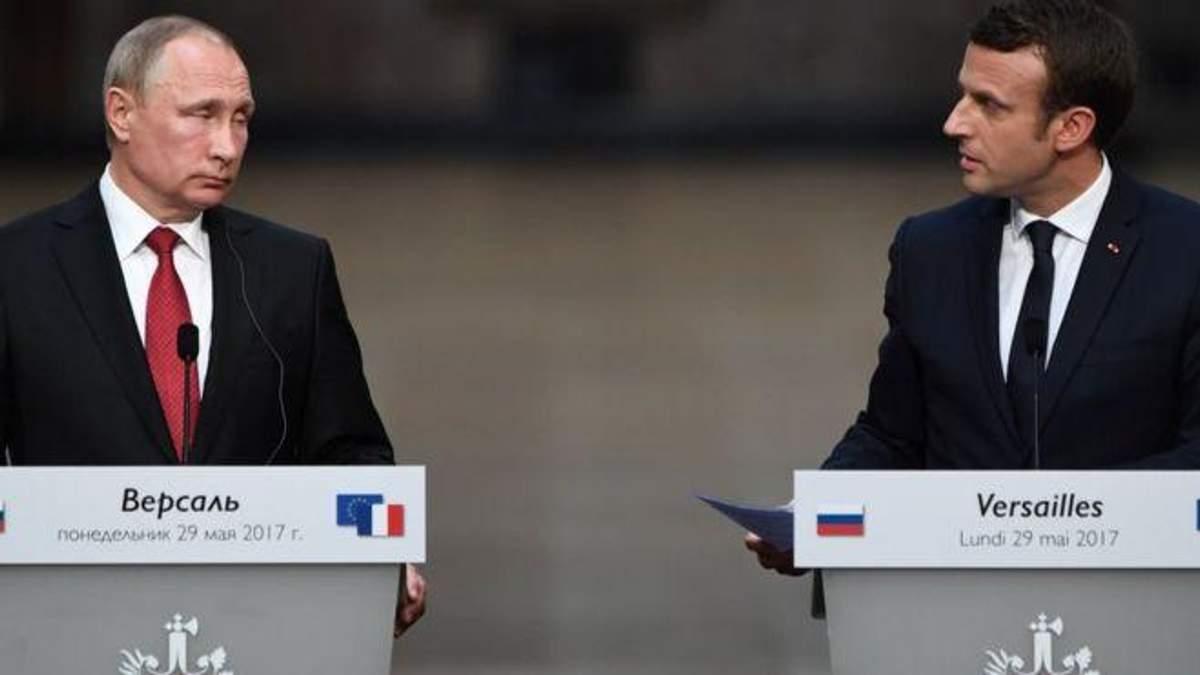 Путін спробує тиснути на Макрона в питанні України
