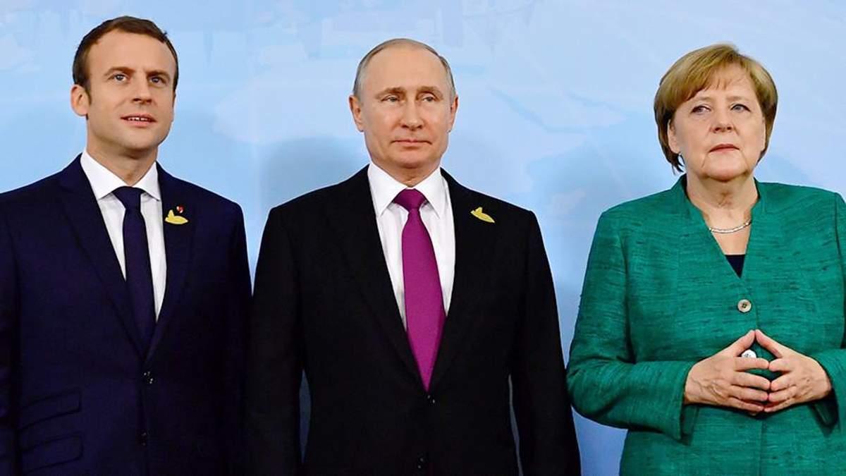 Путин специально разделил встречи с Меркель и Макроном, – эксперт