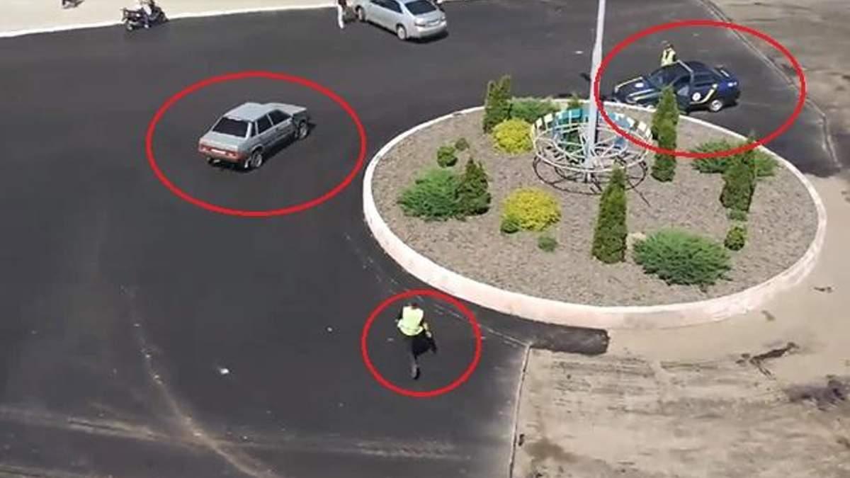 Забавные догонялки авто и полиции на Киевщине: водитель была под амфетамином