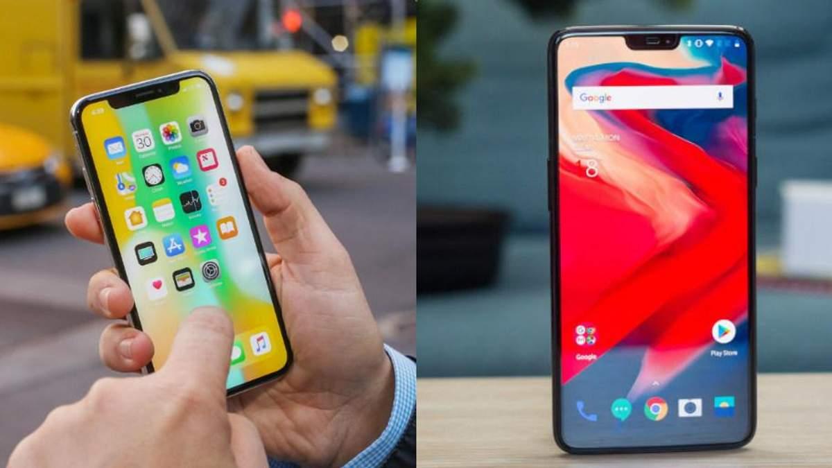 Сравнили iPhone X та OnePlus 6