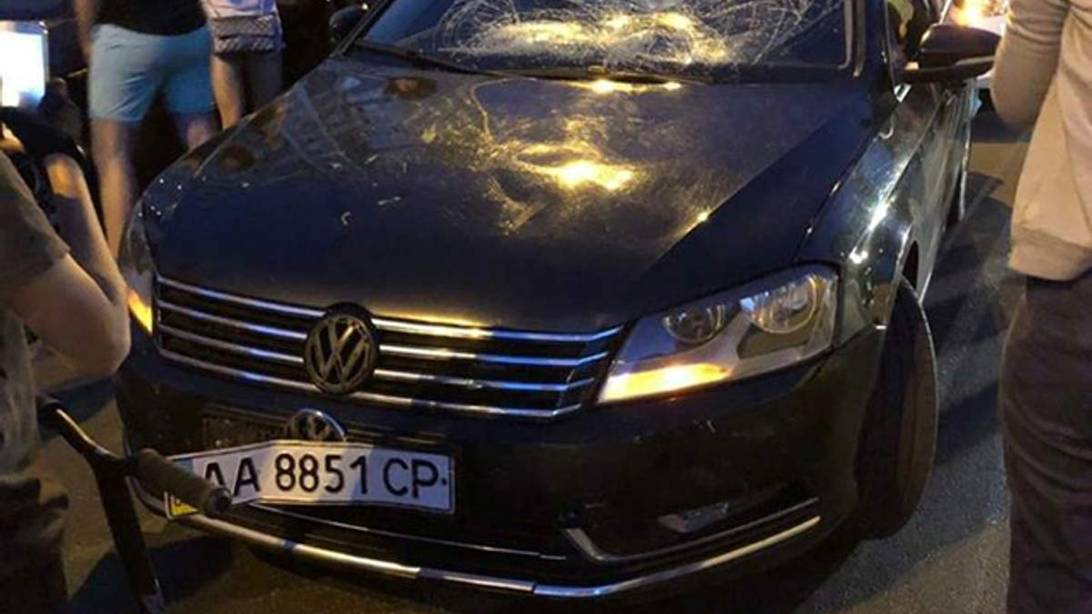 ДТП с кортежем Порошенко и ребенком в Киеве: фото после аварии