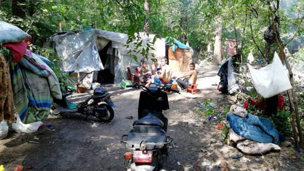 Ромы покинули территорию Голосеевского парка в Киеве