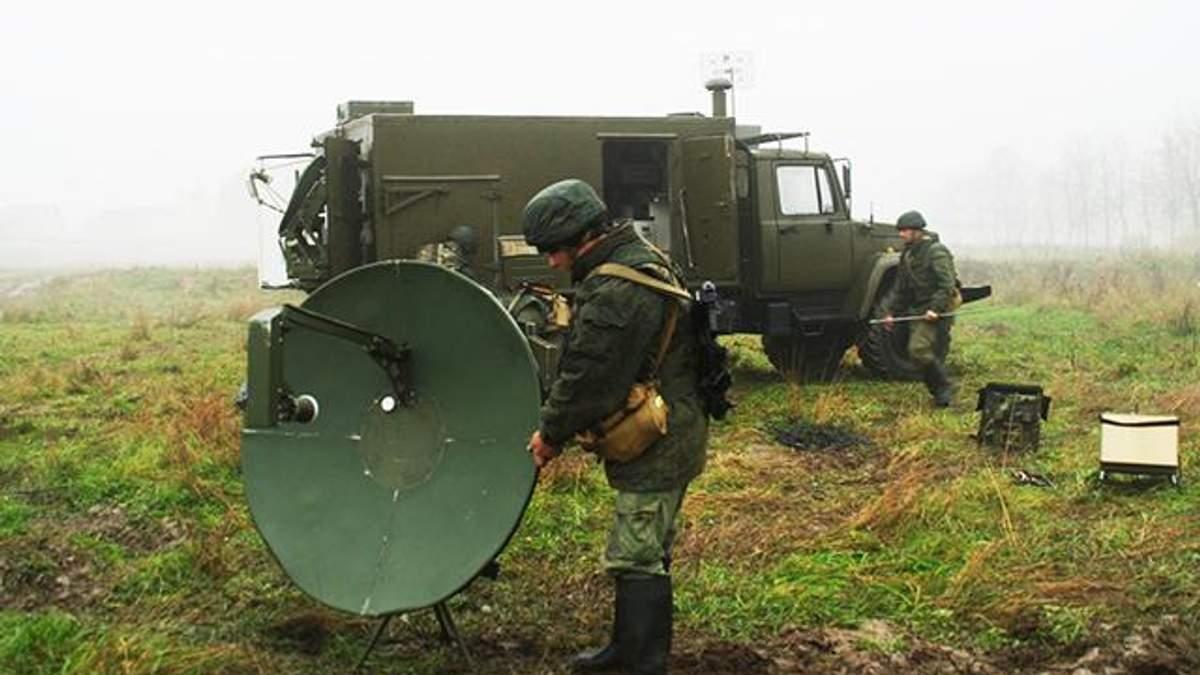 Місця дислокації російських військ зв'язку на Донбасі та в Криму