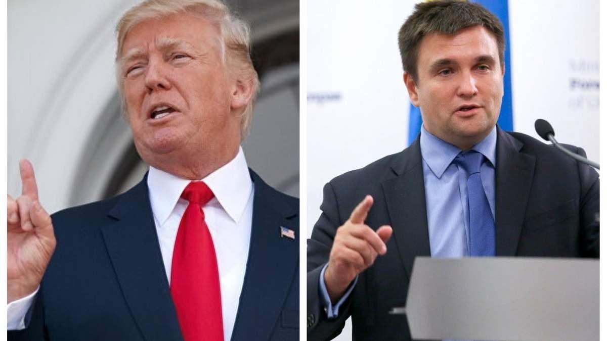 """Клімкін спростував інформацію про те, що Трамп назвав Крим """"російським"""""""