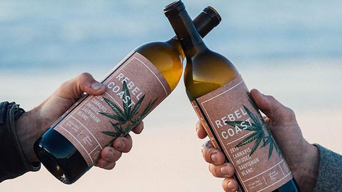 У США винайшли безалкогольне вино з марихуаною