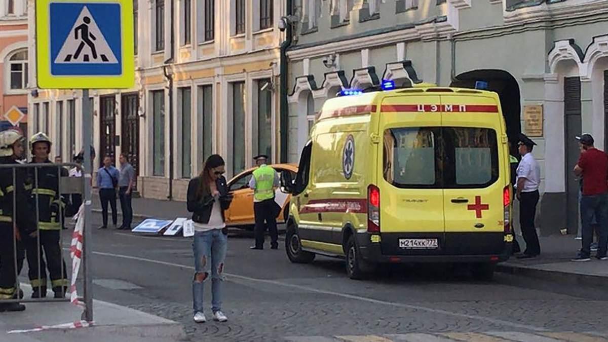 В центрі Москви таксі наїхало на пішоходів