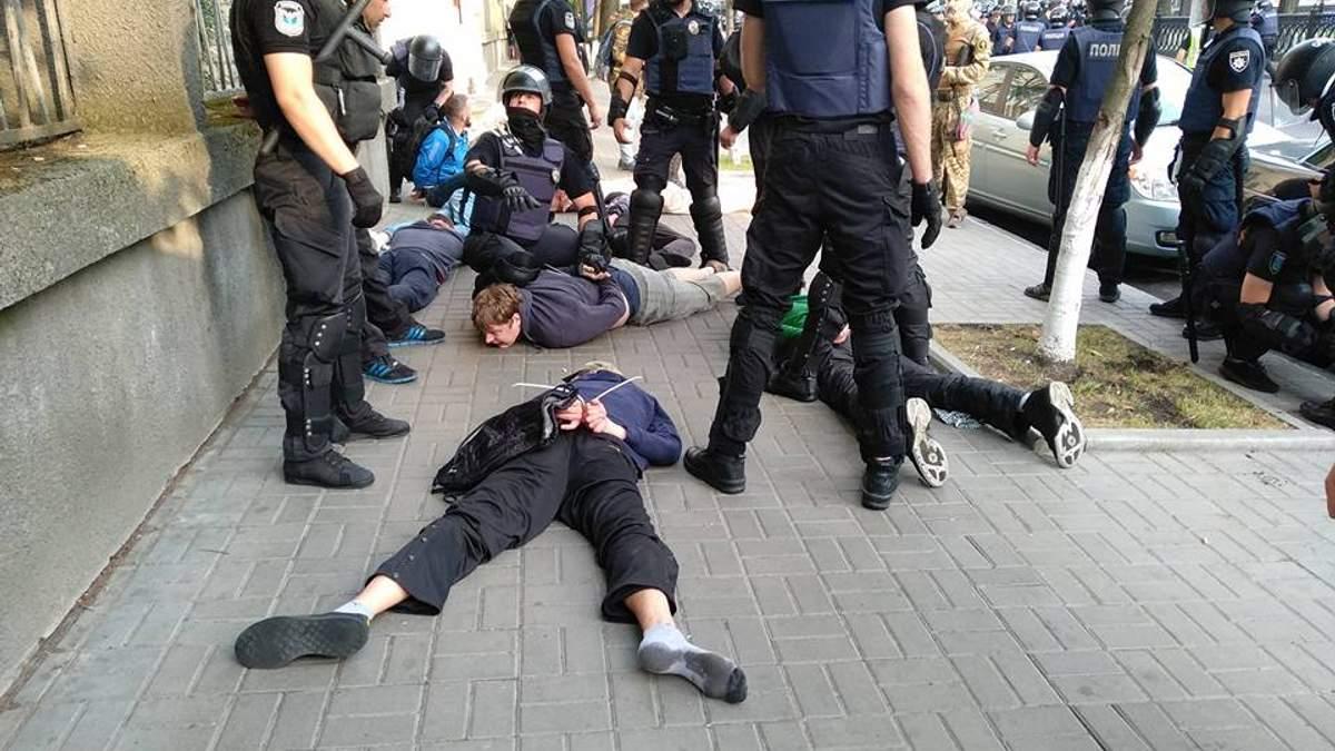 У поліції прокоментували затримання активістів під час Маршу рівності у Києві