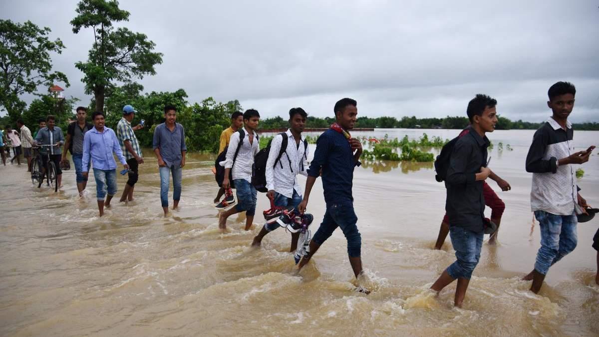 Индию затопило