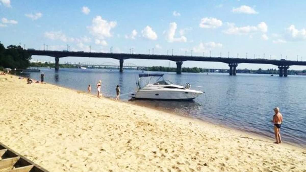Пляжі на Дніпрі у Києві