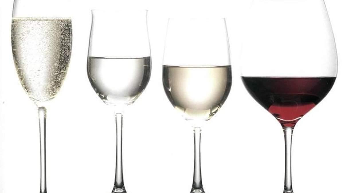 Келихи для вина - як види келихів впливають на смак вина