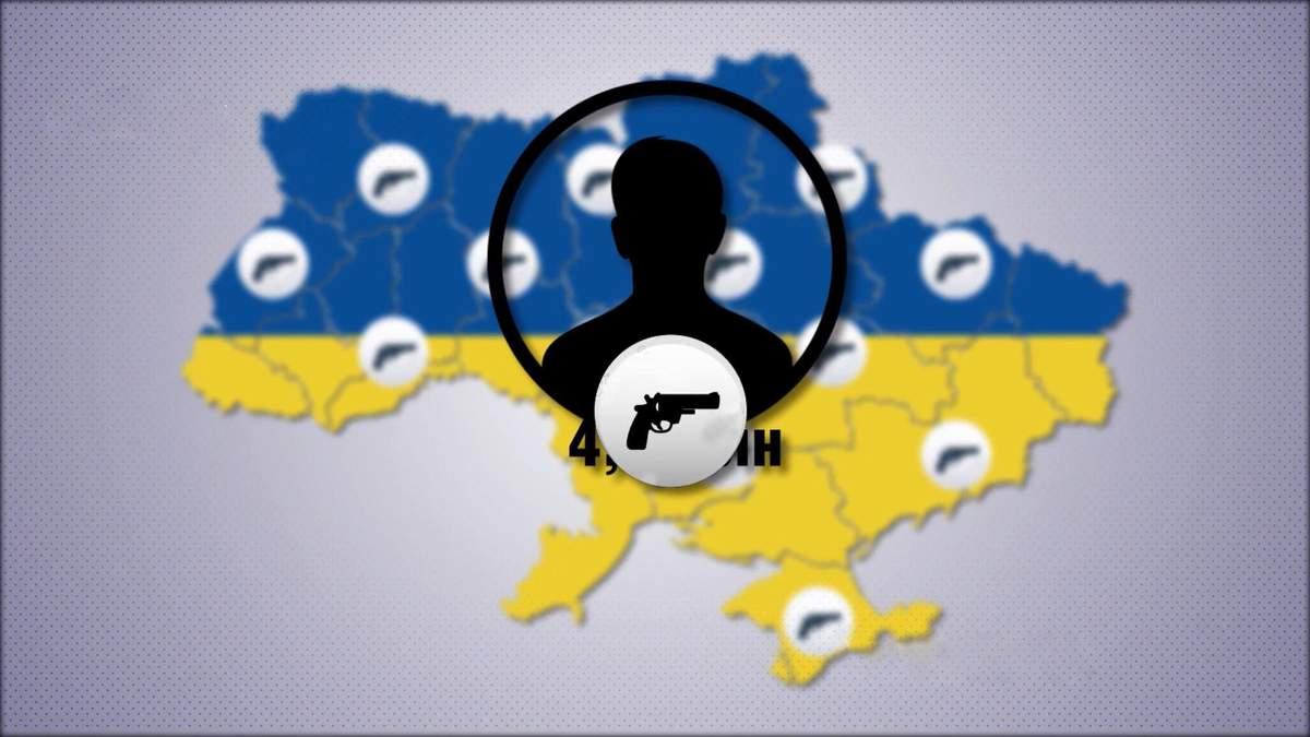 Яке місце посіла Україна у рейтингу країн за кількістю зброї у цивільного населення