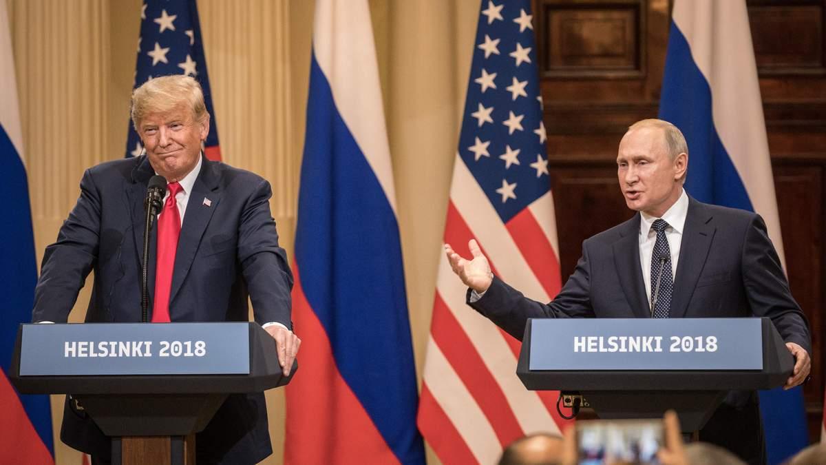 """Трамп заявив, що """"обмовився"""" на прес-конференції з Володимиром Путіним"""
