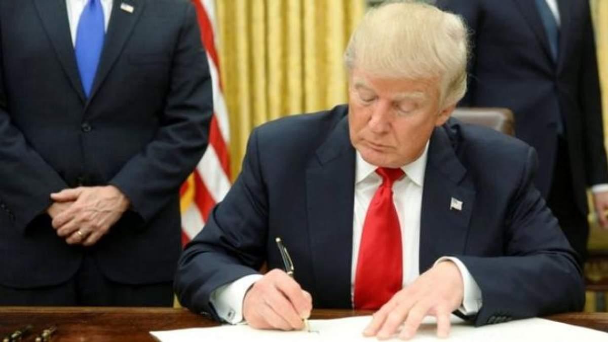 Трамп підписав закон, що стосується КНДР