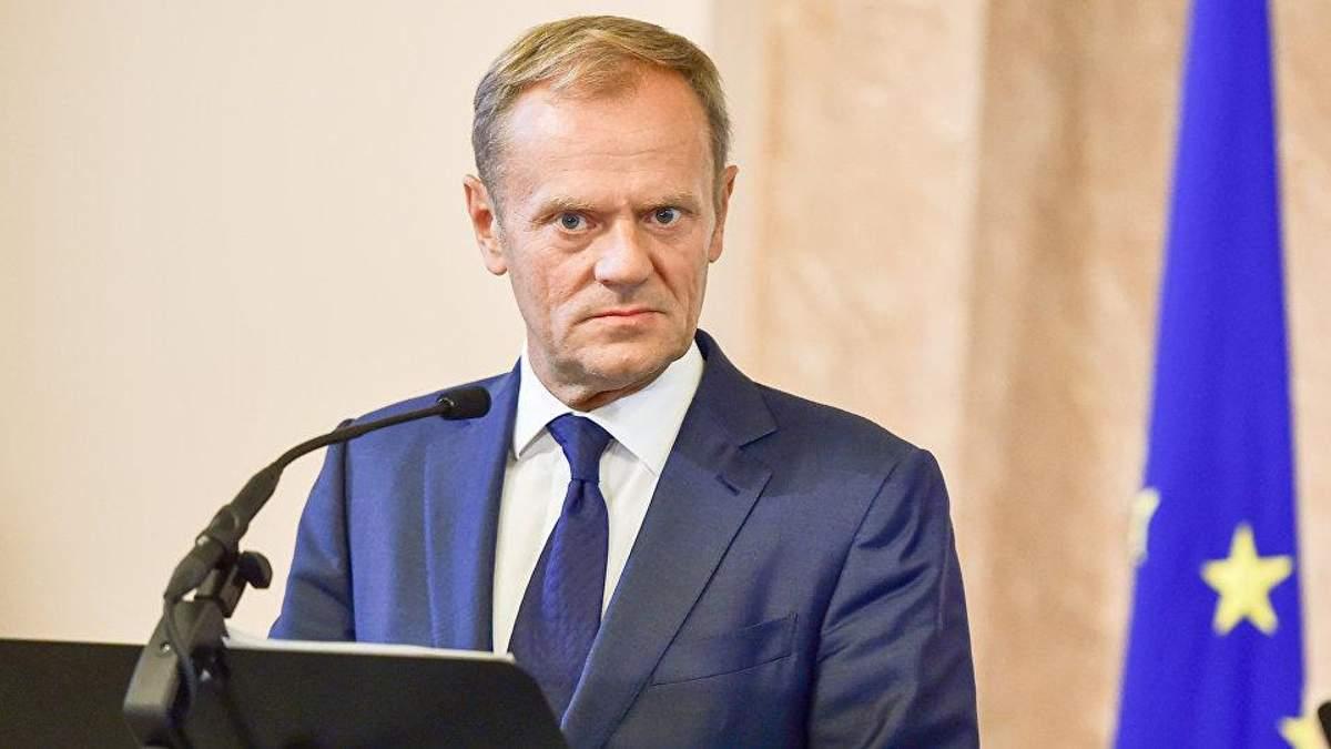 Туск пояснив, за що Євросоюз покарав санкціями Росію