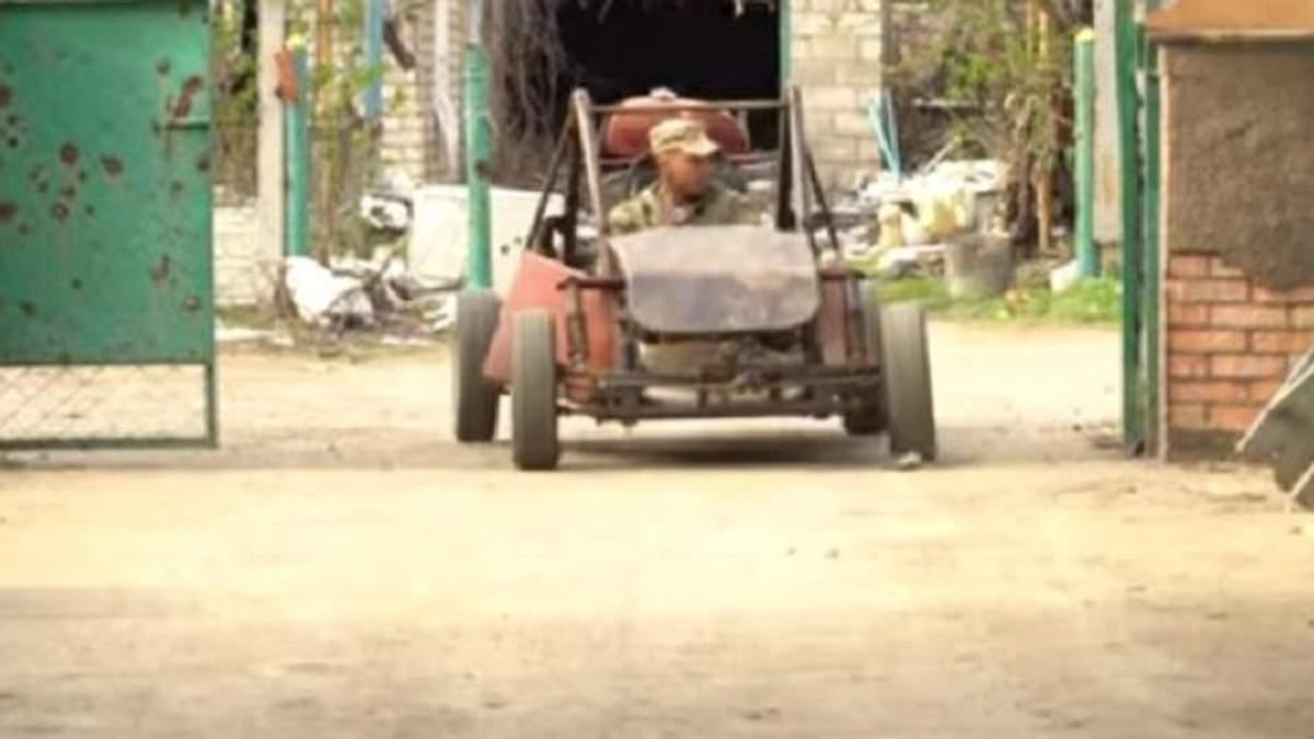 На Донбассе украинские военные создали оригинальный автомобиль