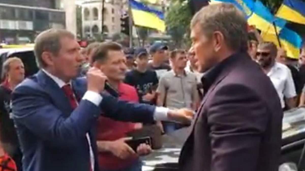 На митинге шахтеров подрались нардеп и министр энергетики