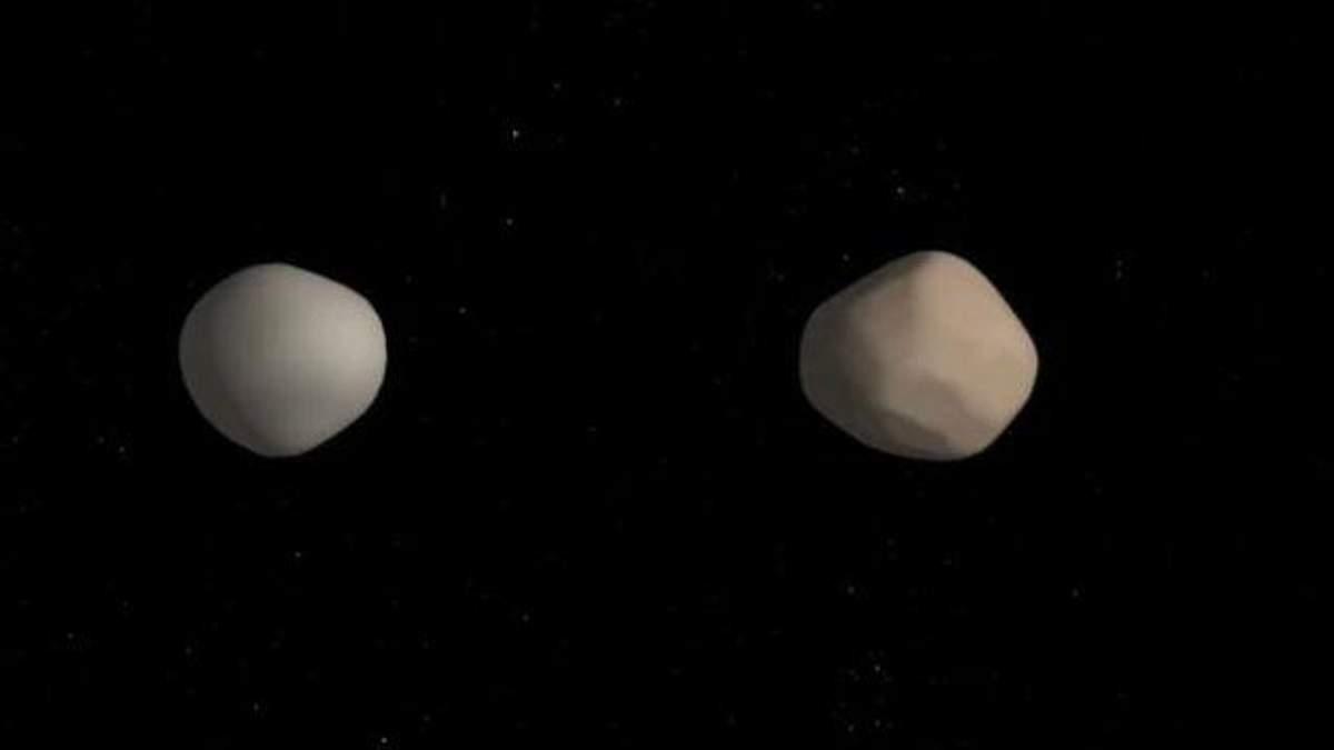 Иллюстрация двойного астероида