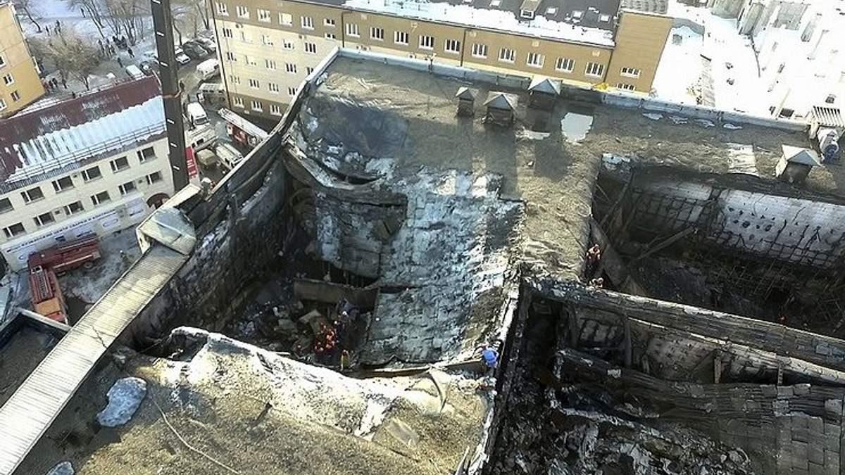 С торгового центра в Кемерово, где произошел смертельный пожар, сняли арест