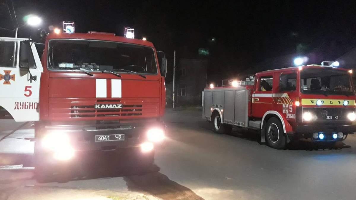 У Дубно на Рівненщині сталася пожежа у пам'ятці архітектури Луцька брама