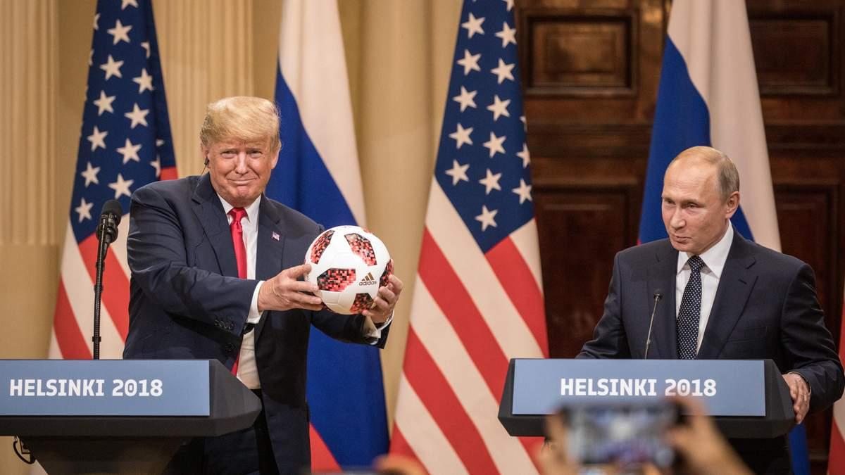 Путін подарував Трампу м'яч: той кинув його Меланії, але не влучив
