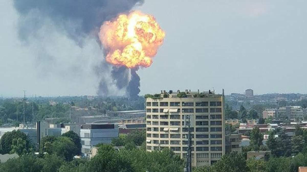 З'явилося відео моменту потужного вибуху біля аеропорту в Болоньї