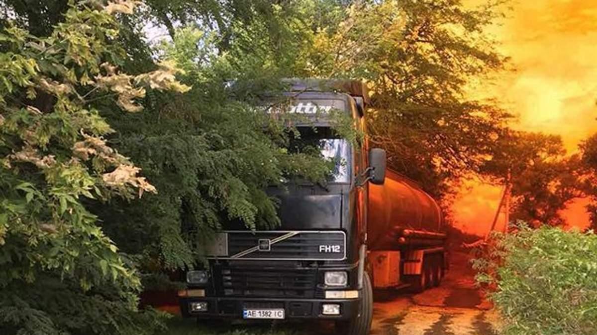 Утечка азотной кислоты под Днепром