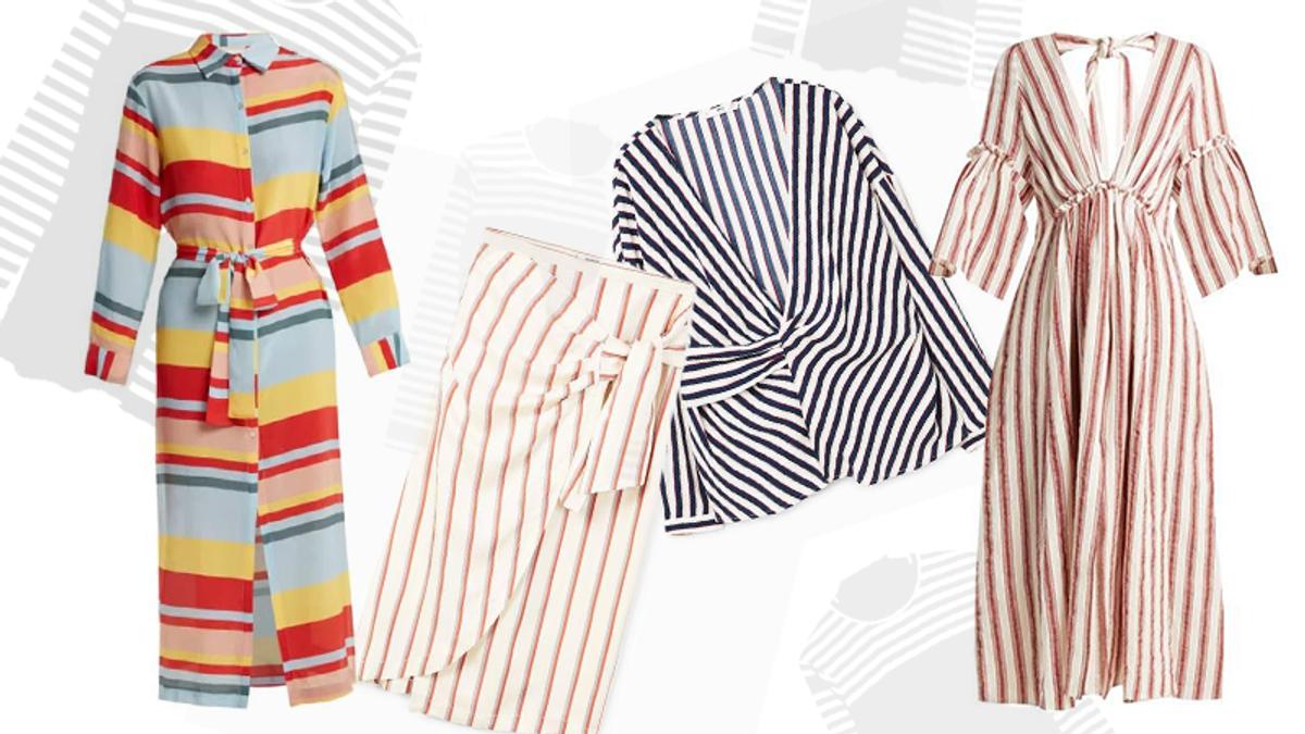 Как носить одежду в полоску