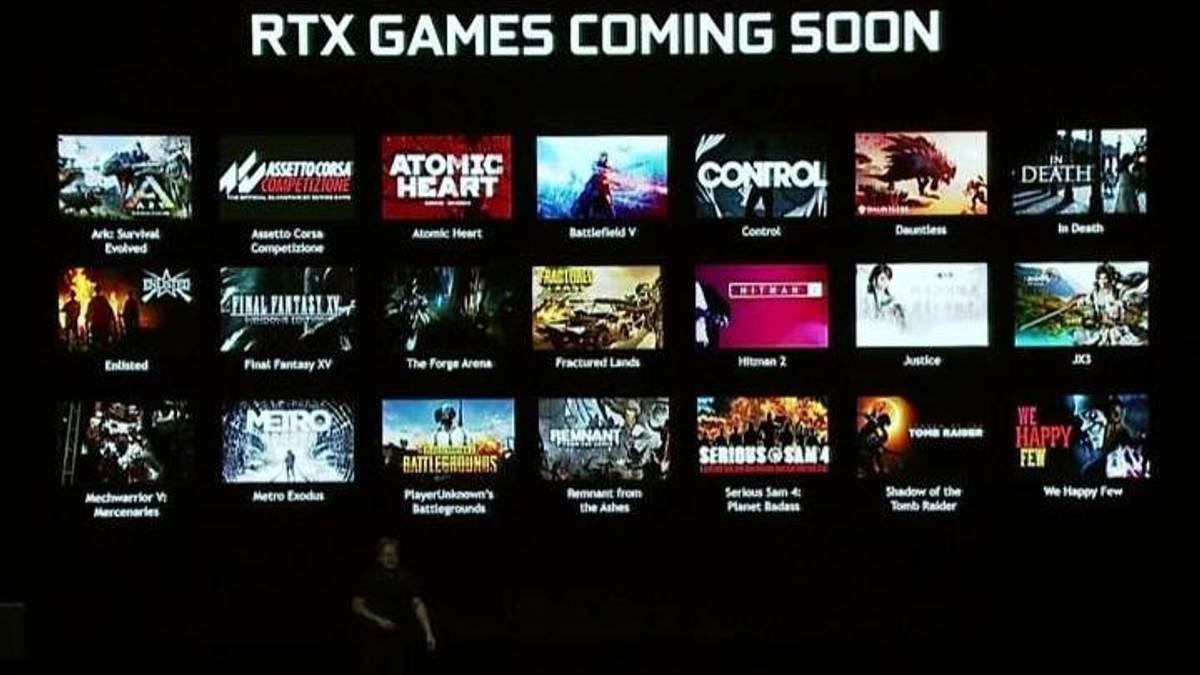 Які ігри отримають підтримку нової технології NVIDIA RTX