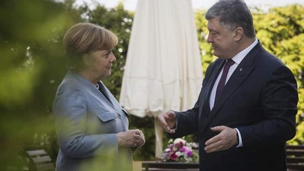 Порошенко анонсував приїзд Меркель в Україну: відома дата