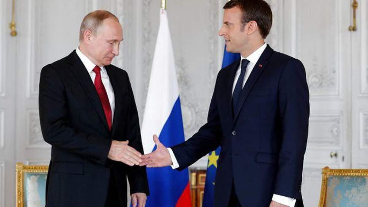 Макрон запропонував включити Росію в систему європейської безпеки