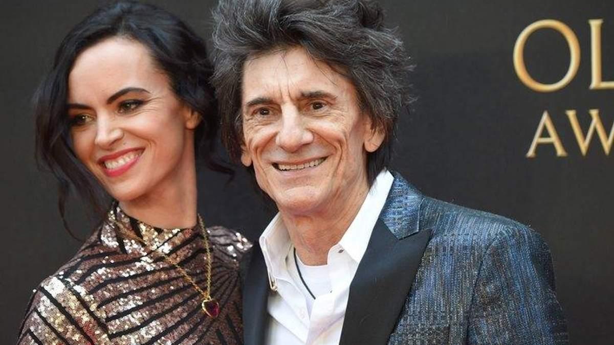 Ронни Вуд с женой Салли Хамфрис