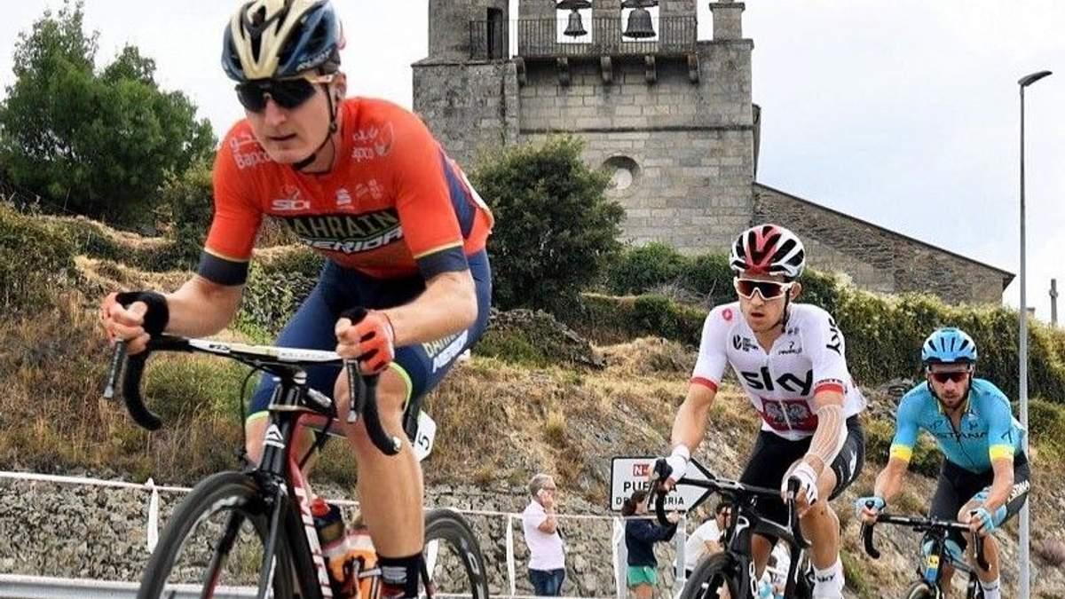 Марк Падун (ліворуч) посів третє місце на етапі Вуельти Іспанії