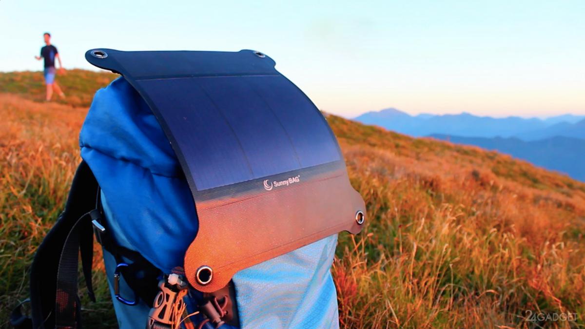 SunnyBAG – гибкая солнечная батарея, которая зарядит ваш телефон в где угодно