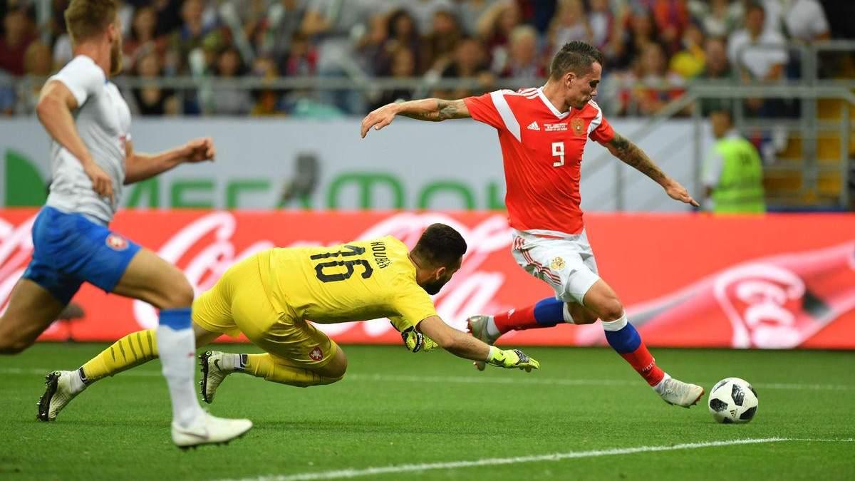 Чехія розгромно поступилася у товариському матчі