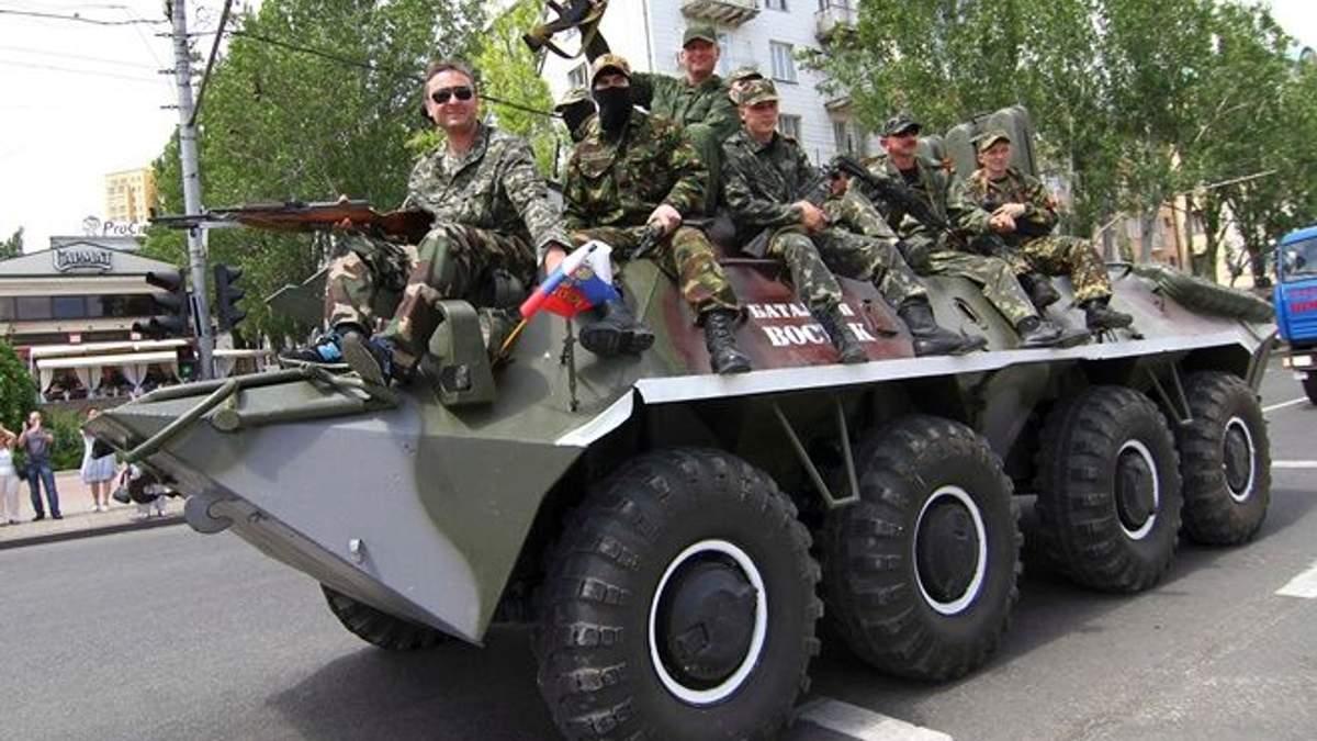В оккупированном Донецке зафиксировано перемещение военной техники