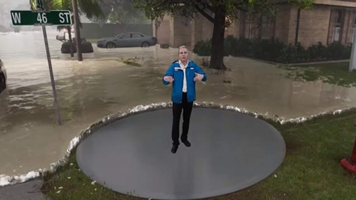 "3D-модель урагану ""Флоренс"" у США"