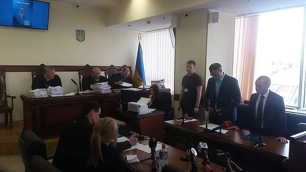 Фото із зали суду