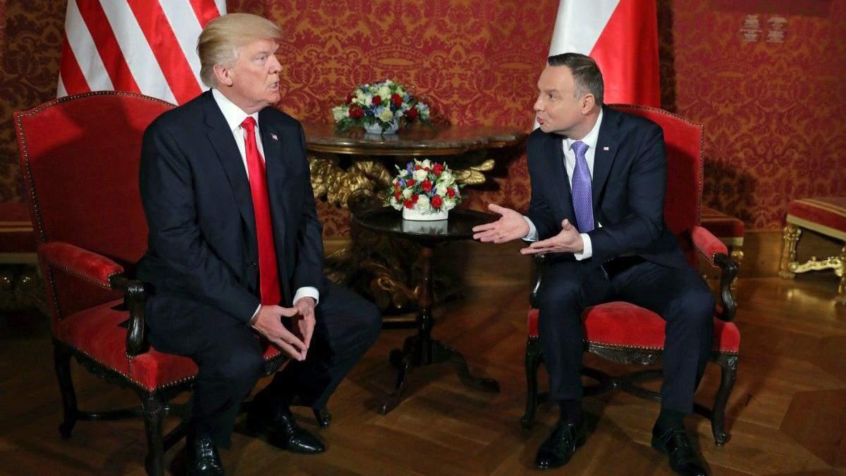 Дуда зробив гучну заяву щодо присутності американських військ в Польщі
