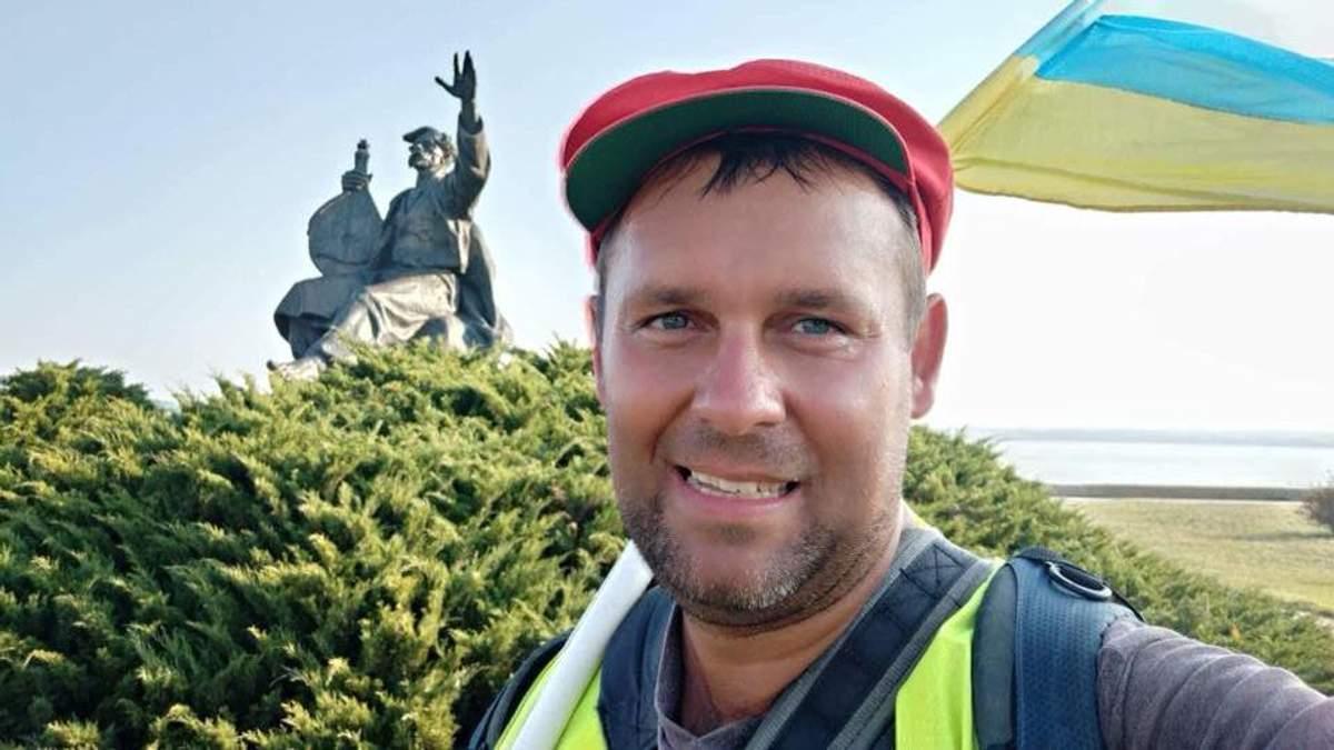 Без денег и минимум продуктов: как украинец одолел 800 км пешком