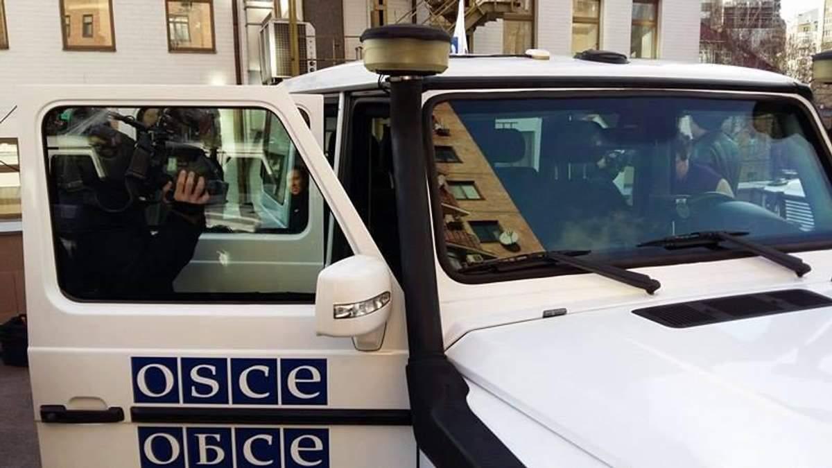 Патруль місії ОБСЄ зафіксував колону техніки проросійських бойовиків