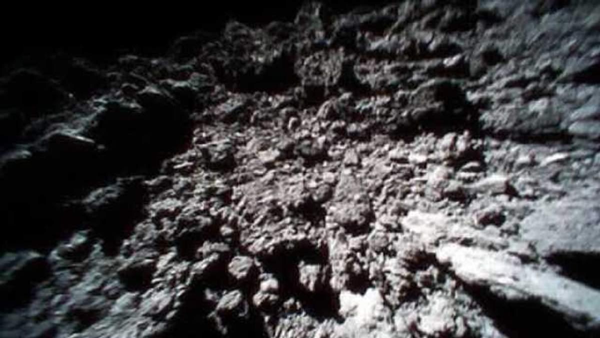Впервые получили видео с поверхности астероида