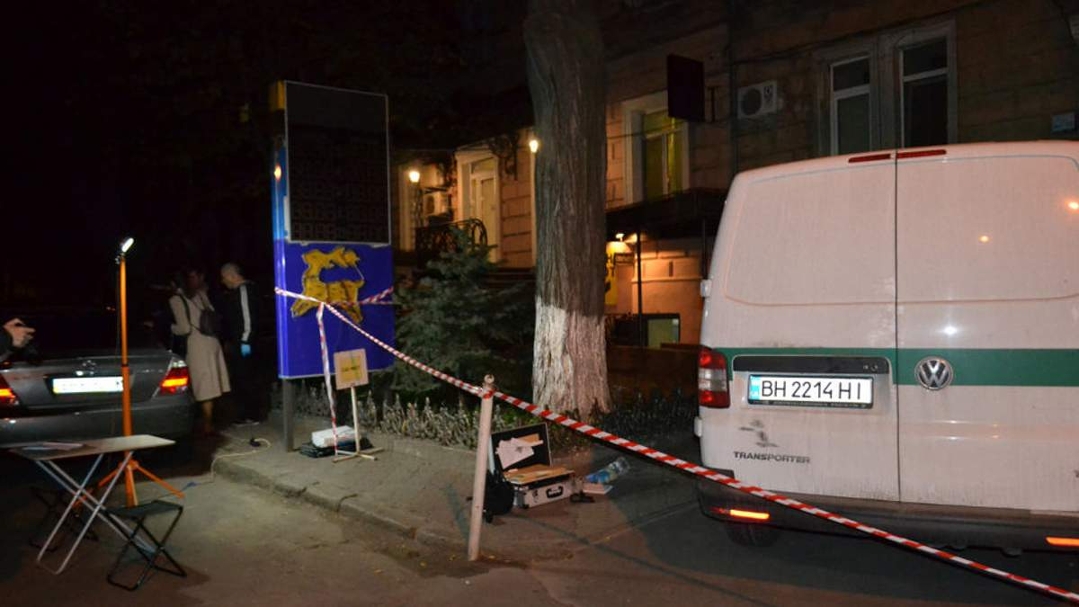 Оприлюднено відео моменту збройного нападу на інкасаторів у Одесі
