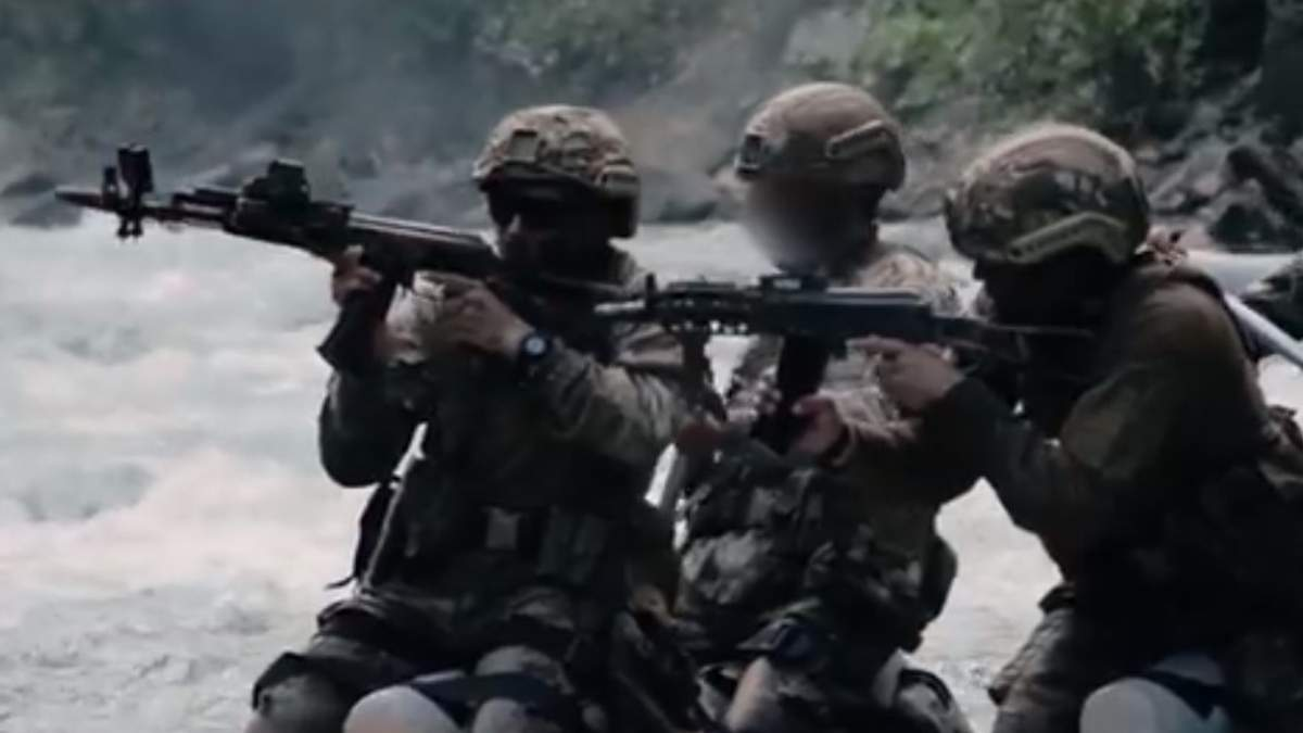Украинские военные показали впечатляющую горную подготовку