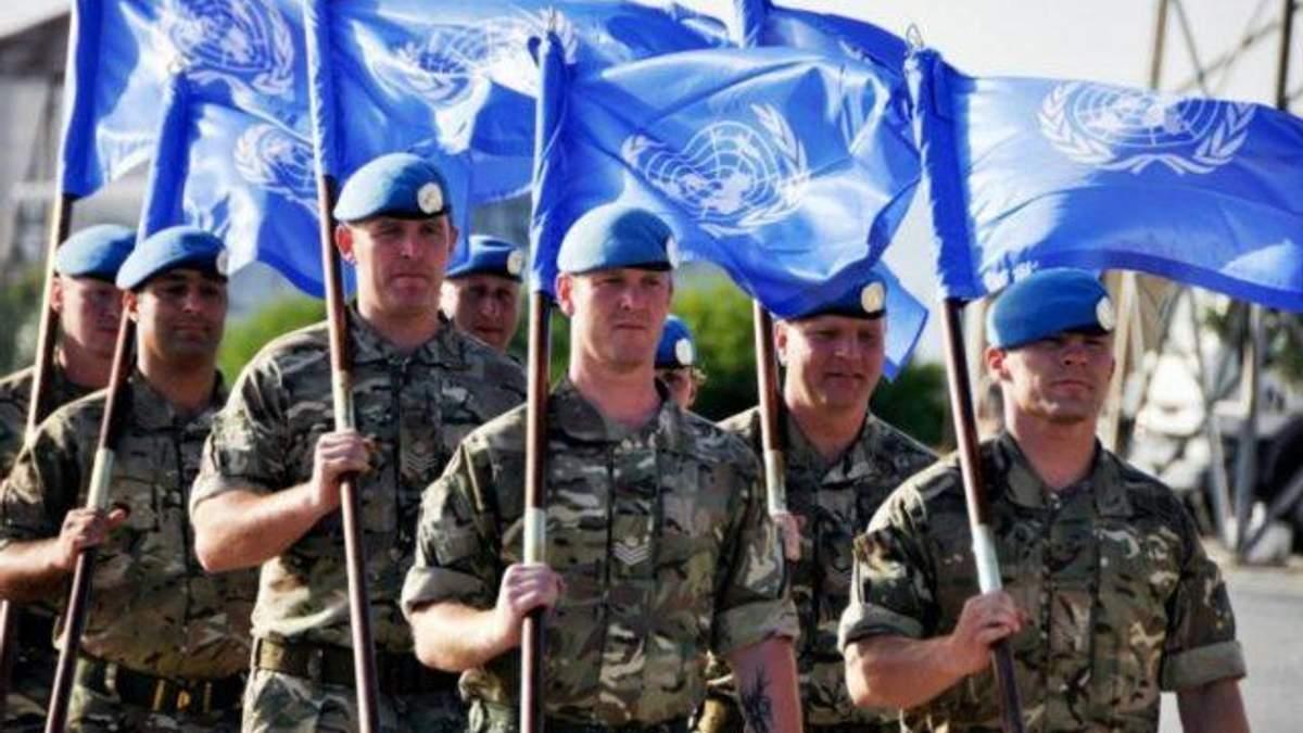 В Украине показали ориентировочную модель миротворческой миссии на Донбассе